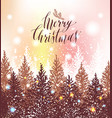 hand drawn christmas card new year trees with vector image vector image