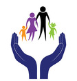 Hand in people encouragement help support moral vector image vector image