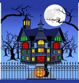 haunted mansion vector image
