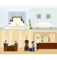 Hotel Staff Banner vector image vector image