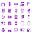 household gradient icons on white background vector image