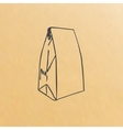 image of paper bag vector image vector image