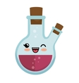 kawaii round flask laboratory chemical icon vector image