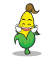 laughing sweet corn character cartoon vector image vector image