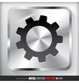 Metal Settings Button vector image vector image
