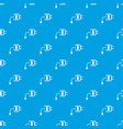 mini charger pattern seamless blue vector image vector image