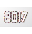 modern happy new year background 2017 with vector image