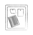 monochrome blurred silhouette of wooden panel for vector image vector image
