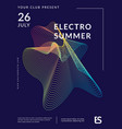 music wave poster design vector image vector image