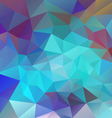 neon blue polygon triangular pattern background vector image vector image