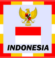 official ensigns flag and coat of arm of indonesia vector image vector image