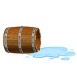 open barrel lying on the ground empty with vector image vector image