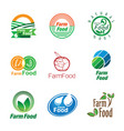 organic food set vector image vector image