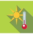 Outdoor thermometer icon flat style vector image vector image
