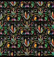 paisley seamless pattern colorful floral vector image vector image