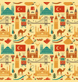 pattern of country turkey culture and traditional vector image vector image