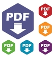 Pdf download rhombus icons vector image vector image