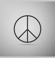 peace sign icon hippie symbol of peace vector image