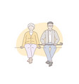 pensioners grandparents older concept vector image