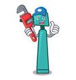 plumber otoscope mascot cartoon style vector image
