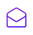 purple message icon in circle thin line vector image