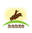 rodeo show bull riding symbol vector image