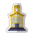 school building front icon vector image