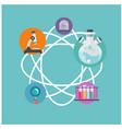science science equipment atom icon background vec vector image