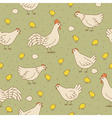 seamless texture with cocks hens and chicks vector image vector image