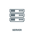 server icon thin outline style design from web vector image