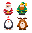 Set Christmas Characters vector image vector image