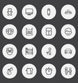 set of 16 editable relatives outline icons vector image
