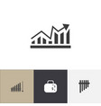 set of 4 editable analytics icons includes vector image vector image