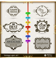 Set of calligraphic and floral design elements vector image vector image