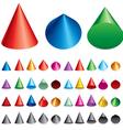 set of cones vector image