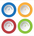set of four icons - dial symbol vector image vector image