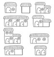 set of huts vector image