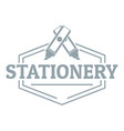stationery logo simple gray style vector image vector image