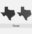 texas map counties outline vector image vector image