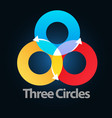 three circle vector image vector image