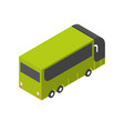 tourist bus icon isometric isolated tourism and vector image vector image