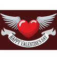 Valentine Heart with wings vector image vector image