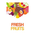 vegetables and fruit set banners vector image vector image