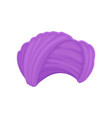 violet low turban on white vector image vector image