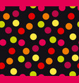 vivid colorful random polka dot seamless pattern vector image vector image