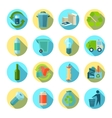 Waste Sorting Round Icons Set vector image vector image