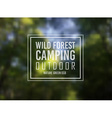 Wild Forest Nature Camping Typo Motivational text vector image