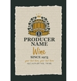 wine label with a wooden barrel vector image vector image