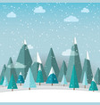 winter landscape with christmas trees and snow on vector image vector image