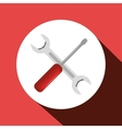 wrench and screwdriver tools isolated icon vector image